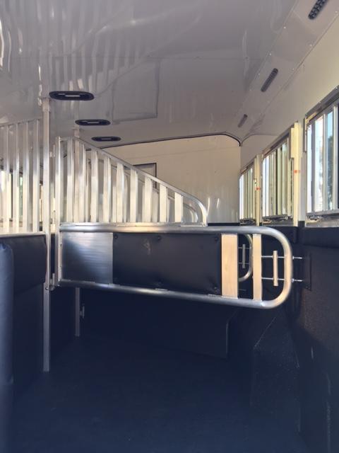 2019 Merhow Trailers 2019 8 wide 3 horse w/16'lq slider rear kitchen Horse Trailer