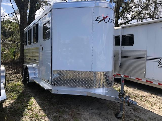 2022 Exiss Trailers 3 horse bumper pull XT with dressing room Horse Trailer