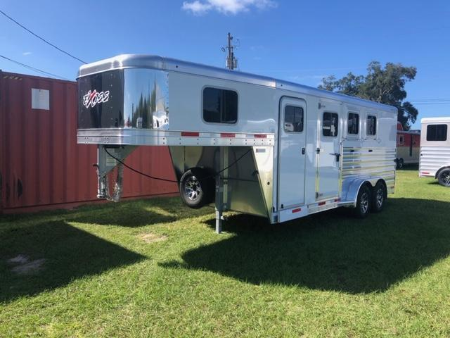 2022 Exiss Trailers 3 horse gooseneck w/air dividers Horse Trailer