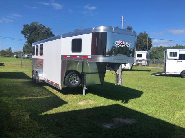 2021 Exiss Trailers 3 horse gooseneck w/air dividers Horse Trailer