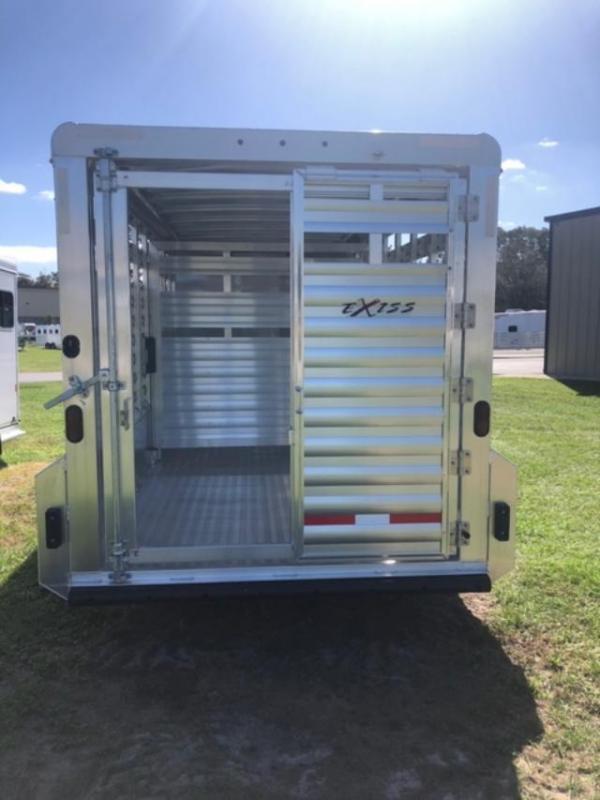 2022 Exiss Trailers 716 stock bumper pull Livestock Trailer