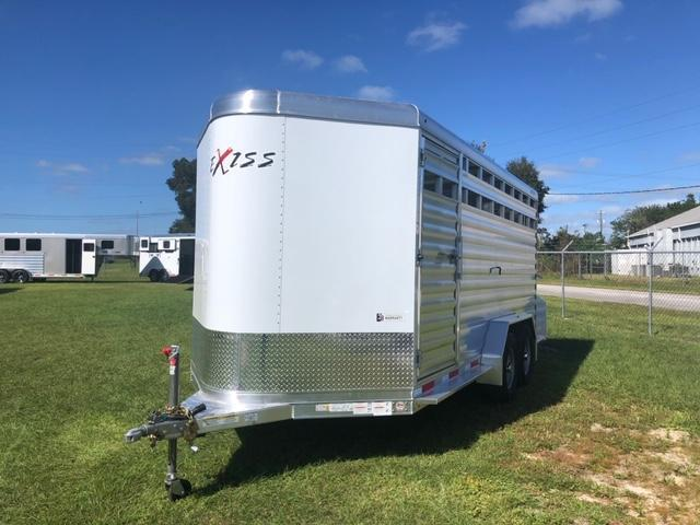2022 Exiss Trailers 716 stock bumper pull Livestock Trailer