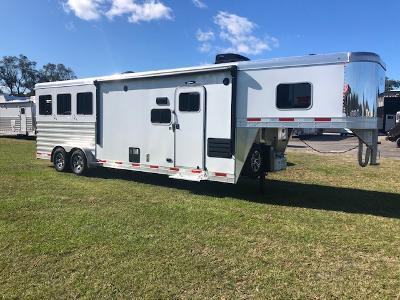 2022 Exiss Trailers 7' wide 3 horse w/10' lq and slide Horse Trailer