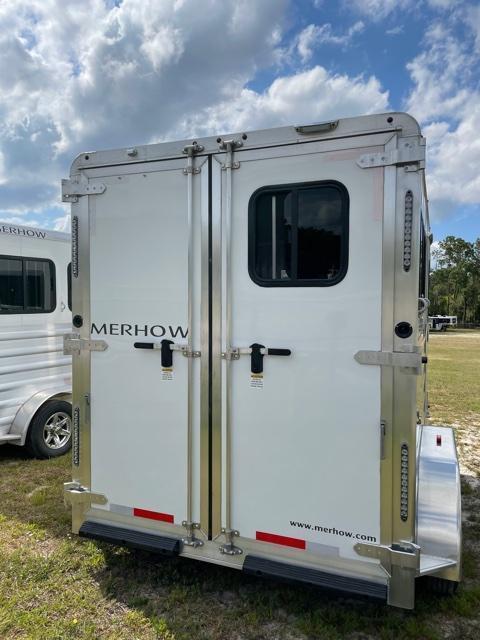 2022 Merhow Trailers 2 horse slant Bronco with dressing room Horse Trailer