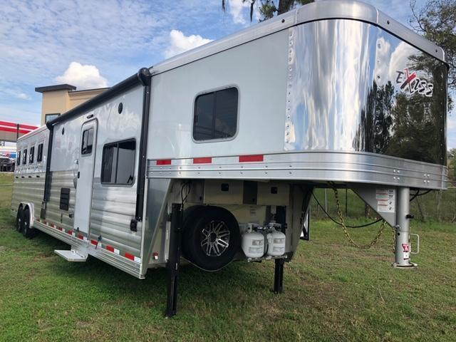 2020 Exiss Trailers 8' wide 4 horse w/14' lq and slide Horse Trailer