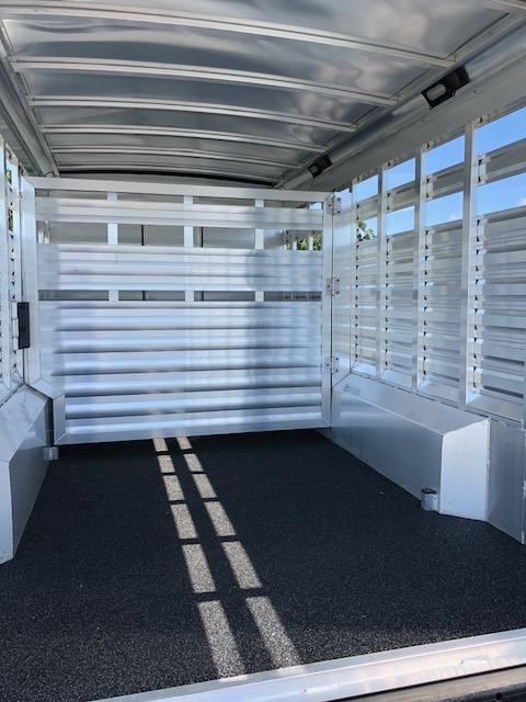 2021 Exiss Trailers 8 wide 10.6 lq w/bunk; midtack and 14' stock area Livestock Trailer