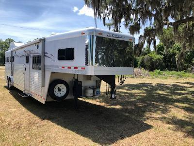 2007 C and C Trailers 8' wide 4 horse w/15'lq and gen Horse Trailer