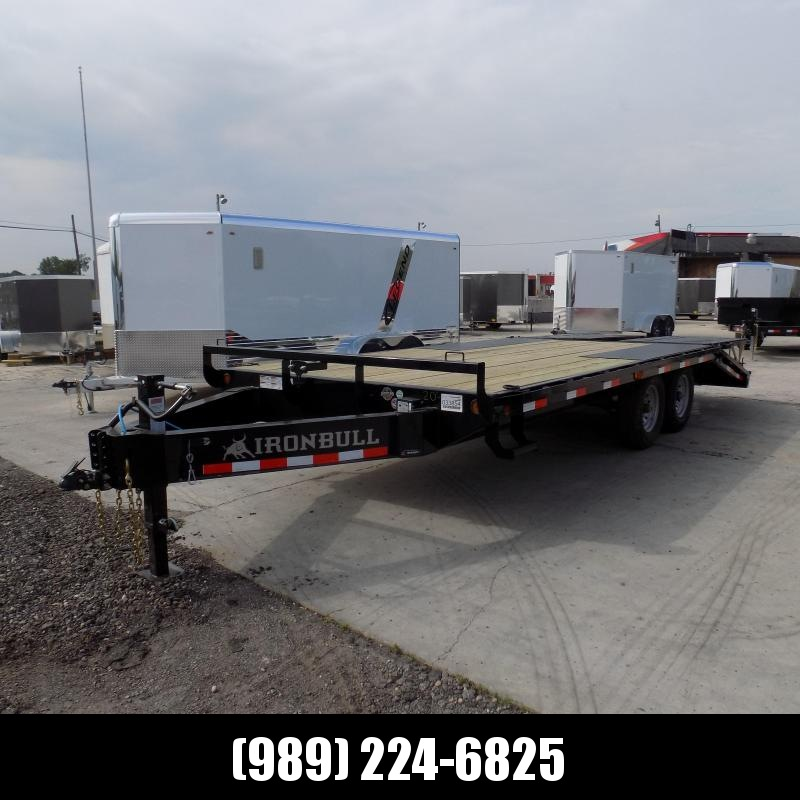 """New Iron Bull 102"""" x 20' Deckover Trailer W/ 5' Self-Cleaning Dove"""