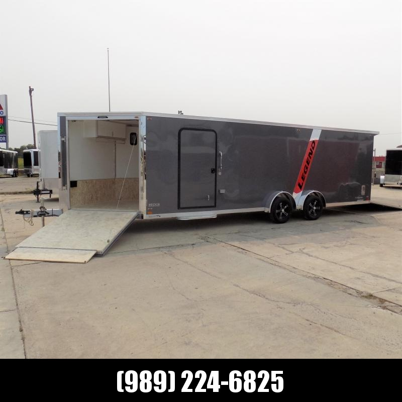 New Legend Explorer 7.5' x 29' Snowmobile Trailer - New 7.5' Wide Model Has NO Interior Wheel Wells! Flexible Financing Options Available
