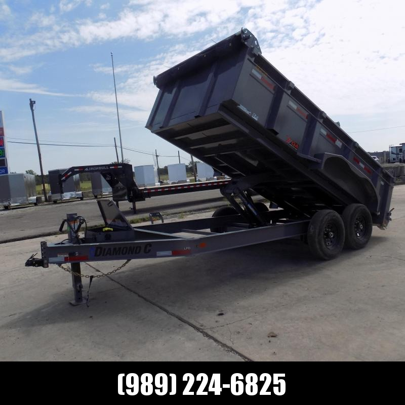 New Diamond C Trailers 7' x 14' Low Profile Dump Trailer - $0 Down With Financing Options Available