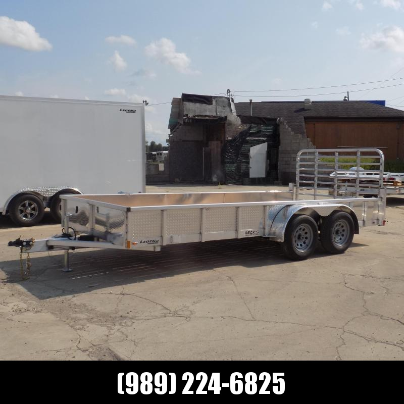 New Legend 7' x 16' Open Aluminum Equipment Trailer For Sale - $0 Down & Payments from $105/mo. W.A.C