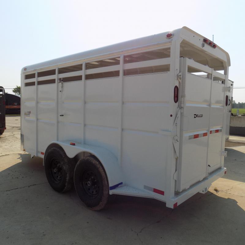 New Delco Trailers 6' X16' Livestock Trailer - $0 Down & $145/mo W.A.C