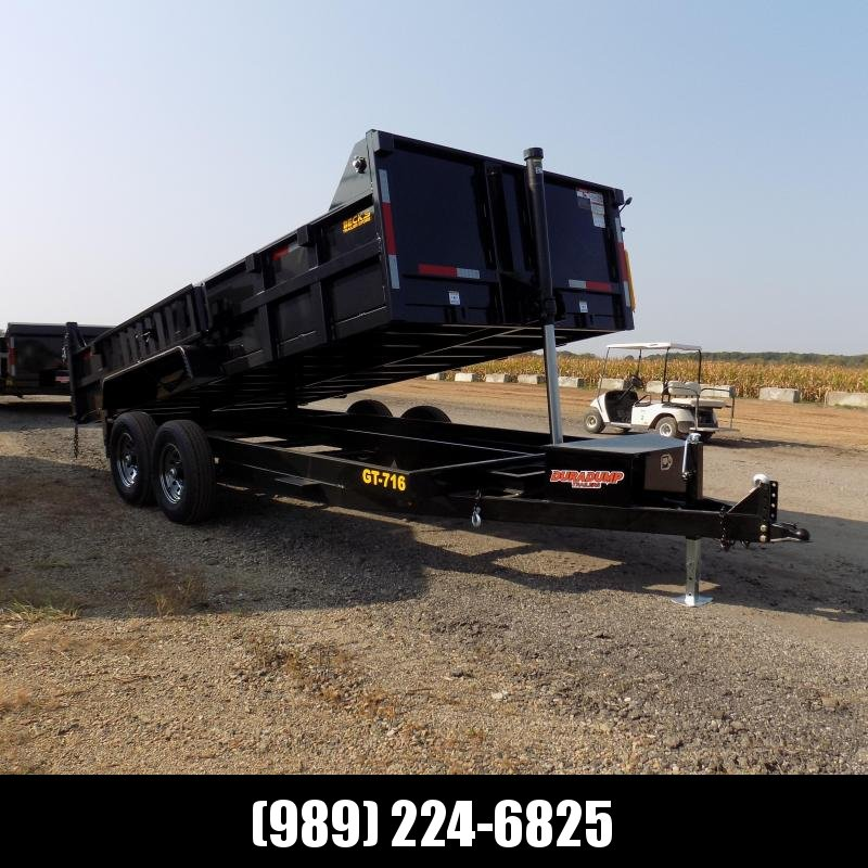 New DuraDump 7' x 16' Dump Trailer For Sale - $0 Down & Payments From $139/mo. W.A.C.