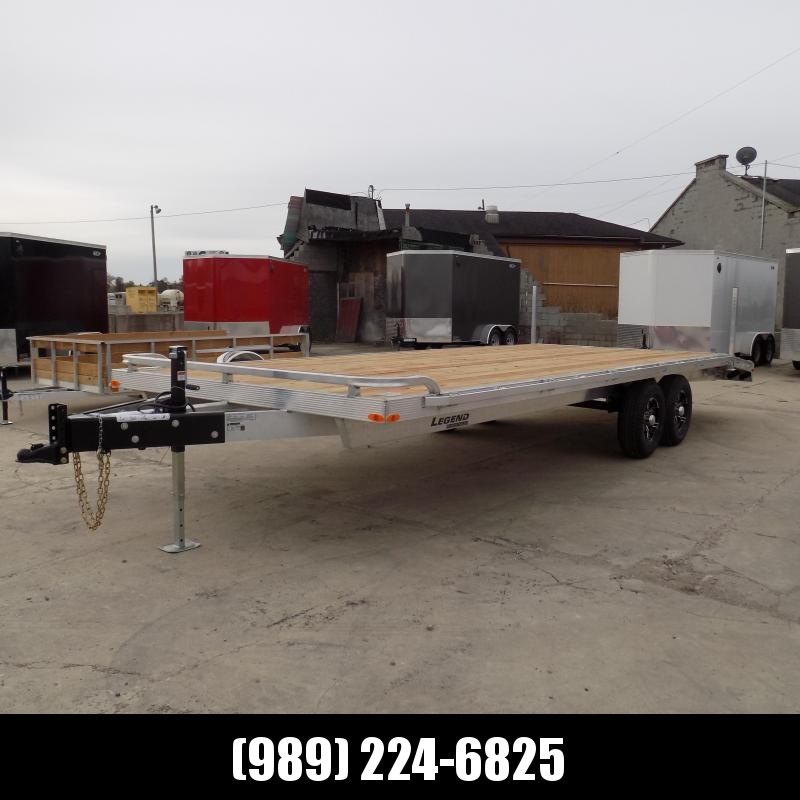 """New Legend 102"""" x 24' All Aluminum Deckover Equipment Trailer - $0 Down & Payments From $137/mo. W.A.C."""