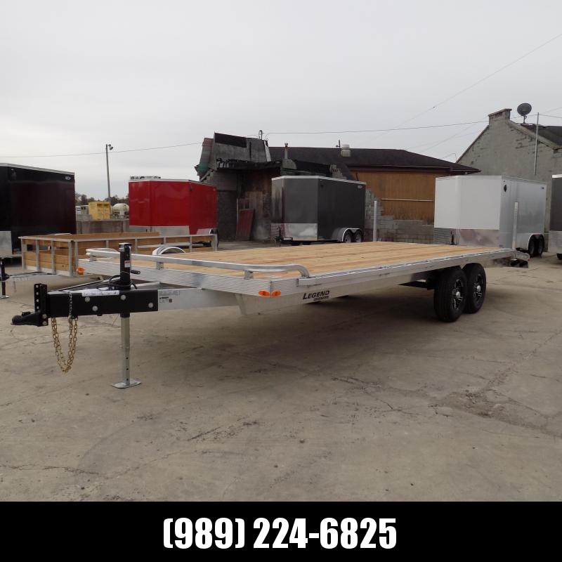 "New Legend 102"" x 24' All Aluminum Deckover Equipment Trailer - $0 Down & Payments From $137/mo. W.A.C."