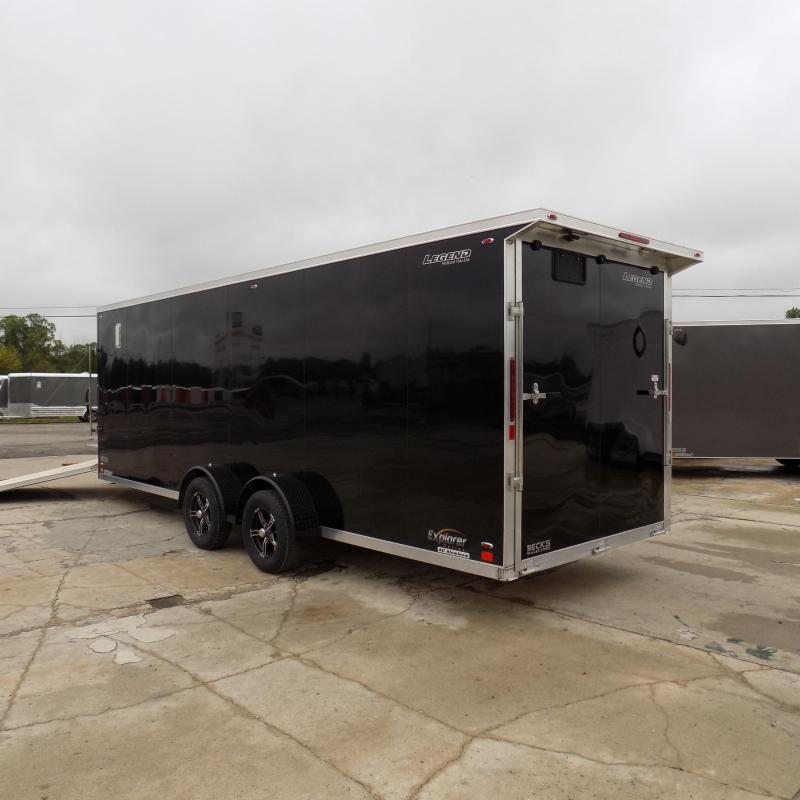 New Legend Explorer 7' x 27' Snowmobile Trailer - $0 Down & Payments From $165/mo. W.A.C - Come See America's Largest Snow/ATV Trailer Inventory!