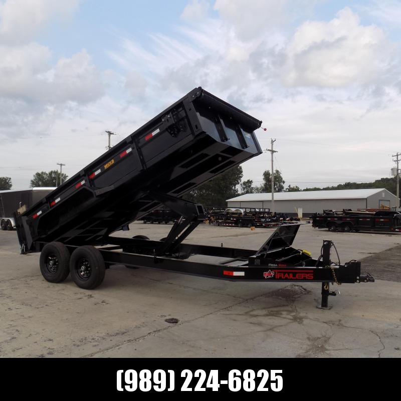 """New ED Trailer 83"""" x 16' Dump Trailer - with 7K Axles - $0 Down and  $157/Mo Payments W.A.C"""