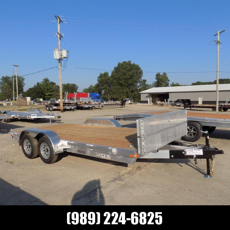 New Legend 7' x 16' Open Aluminum Equipment/Car Hauler Trailer For Sale - $0 Down & Payments from $125/mo. W.A.C