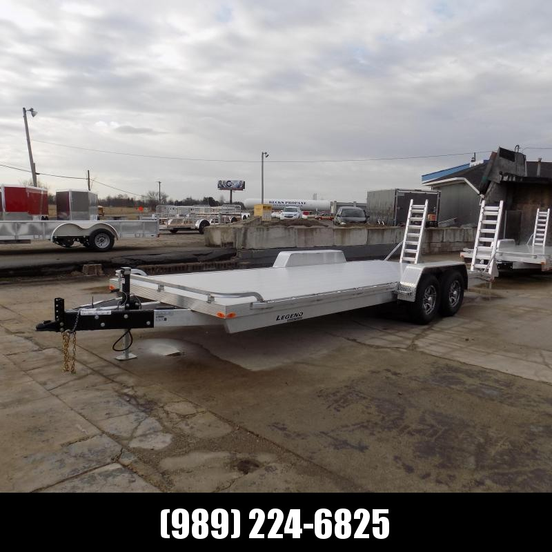 New Legend 7' x 22' Aluminum Equipment Trailer With 5200# Torsion Axles - $0 Down & Payments from $115/mo. W.A.C