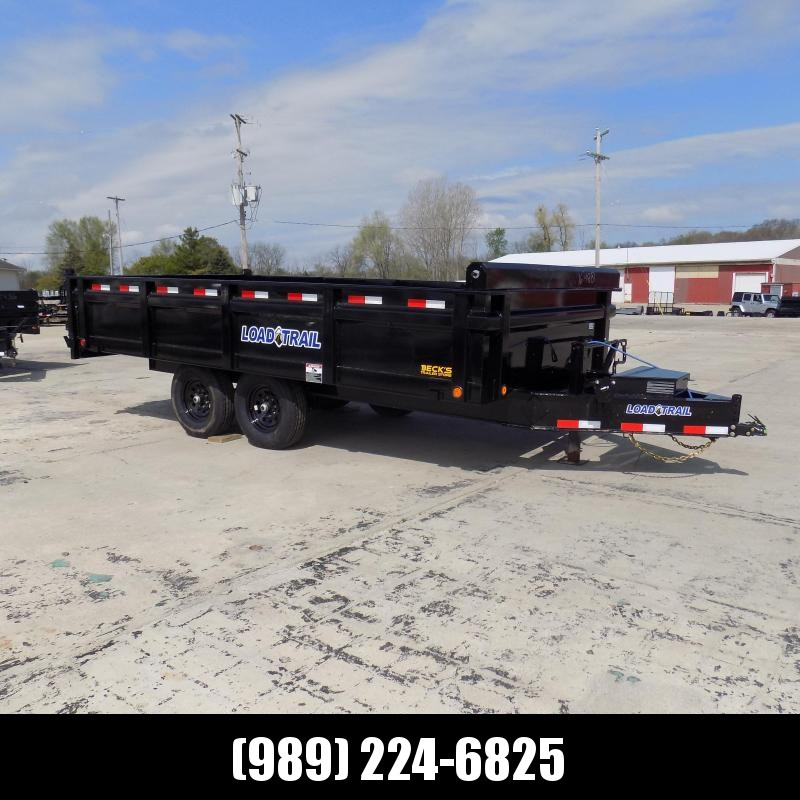 """New Load  Dump Trailer 96"""" x 16' Deckover Dump Trailer With Fold-Down Sides - $0 Down & Payments From $133/mo W.A.C."""