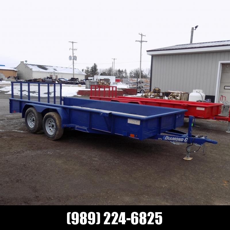 New Diamond C Trailers 7' x 16' Tandem Axle Utility Trailer With Bi-Fold Gate - $0 Down & $99/mo. W.A.C.