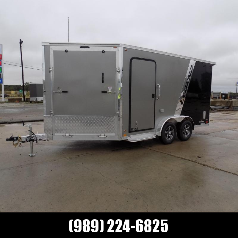 """New Legend Explorer 7.5' x 19"""" Snowmobile Trailer - New 7.5' Wide Model Has NO Interior Wheel Wells! Flexible Financing Options Available"""