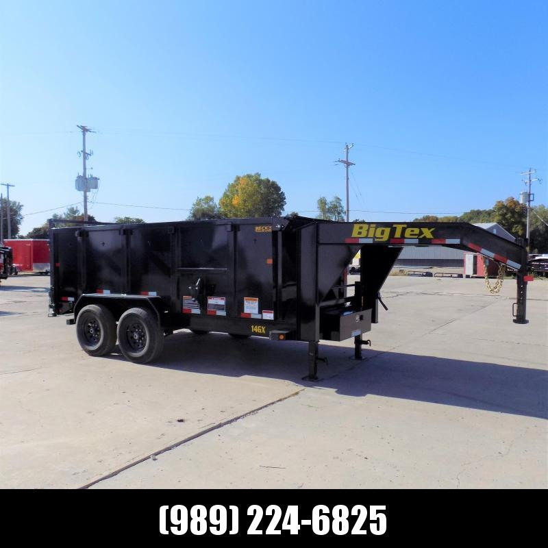 "New Big Tex 7' x 14' Gooseneck Dump Trailer With 48"" Sides or Sale - $0 Down & $149/mo. W.A.C."