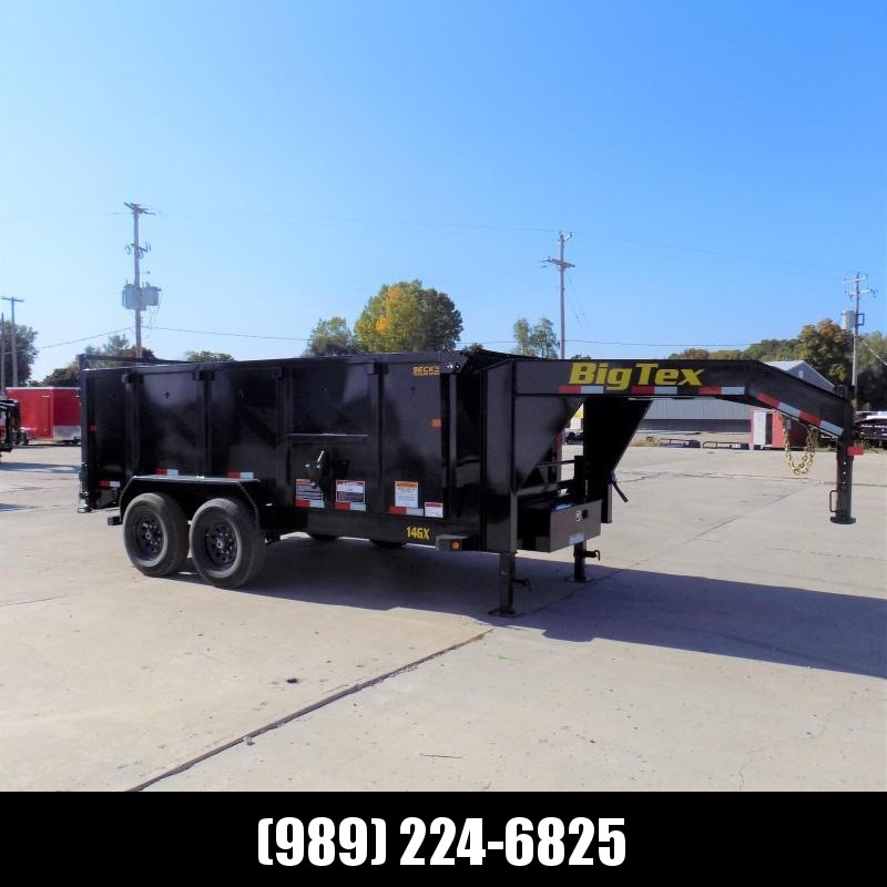 """New Big Tex 7' x 14' Gooseneck Dump Trailer With 48"""" Sides or Sale - $0 Down & $149/mo. W.A.C."""
