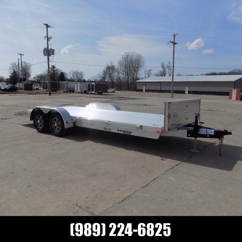 New Legend 7' x 20' Aluminum Open Car Hauler - 5200# Torsion Axles - $0 Down & Payments From $129/mo. W.A.C.