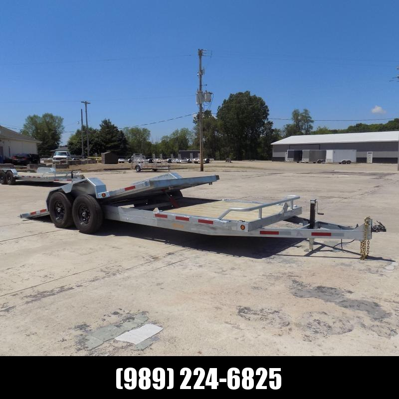 New Galvanized 7' x 22' Tilt Deck Equipment Trailer - Torsion Axles - $0 Down & Payments From $119/mo. W.A.C.