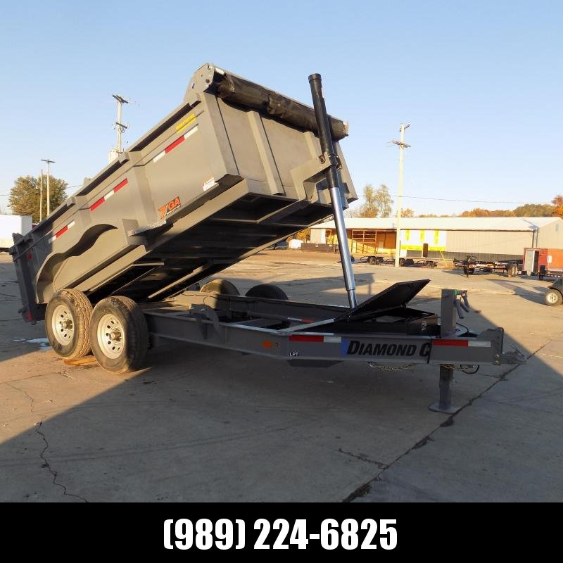 "New Diamond C Trailers 82"" x 12' Low Profile Dump With Telescopic Lift - $0 Down Financing Available"