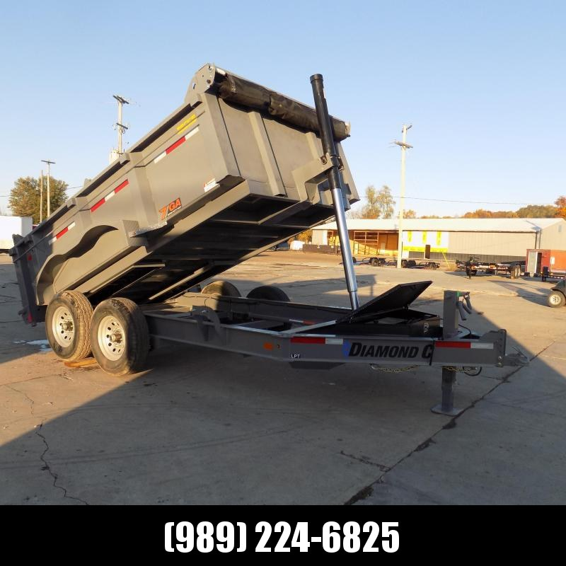 """New Diamond C Trailers 82"""" x 12' Low Profile Dump With Telescopic Lift - $0 Down Financing Available"""