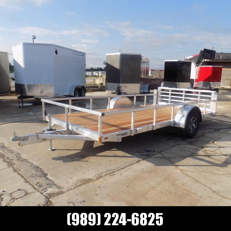 New Legend Open Deluxe 7' x 14' Aluminum Utility Trailer - $0 Down & Payments From $79/mo. W.A.C.