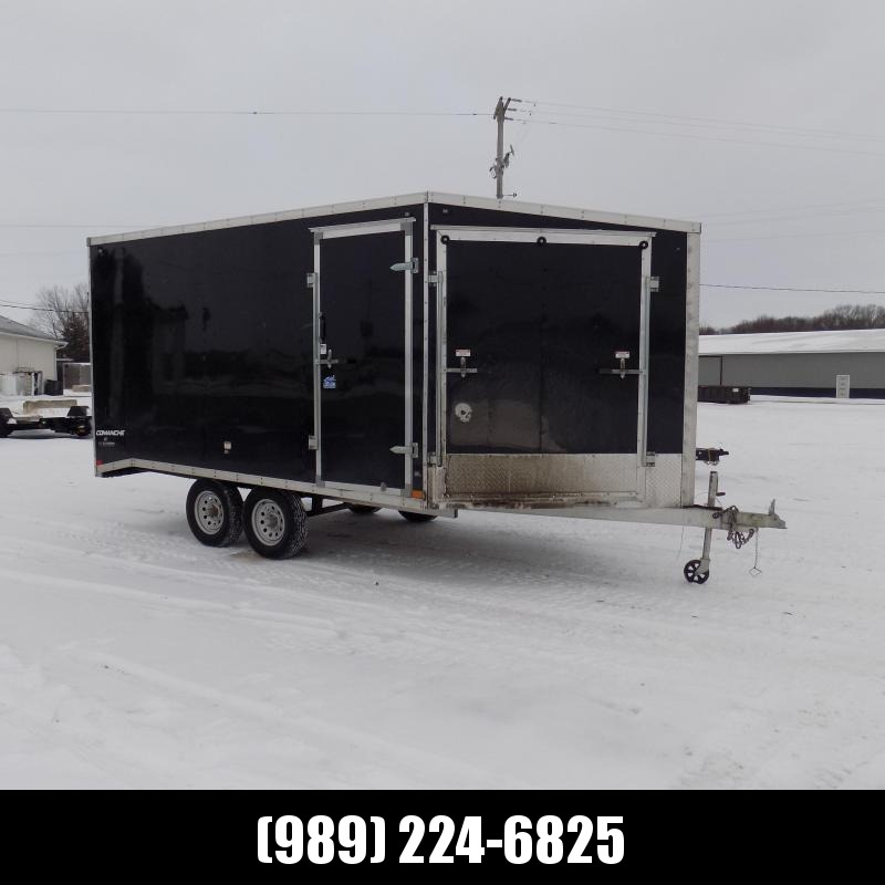 Used 2019 Qualitec 8.5' x 19' Deckover Snowmobile Trailer For Sale - New Trade - Won't Last Long