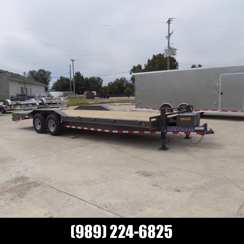 """New Load Trailer 102"""" x 24' Open Car Hauler/Equipment Trailer With 7K Axles - $0 Down & Payments from $123/mo. W.A.C."""