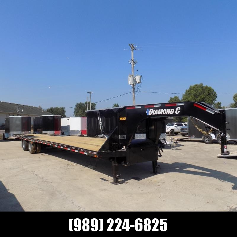 """New Diamond C Trailers 102"""" x 40' Gooseneck Equipment Trailer With 12' Hydraulic Dove - Flexible Financing Options Available"""