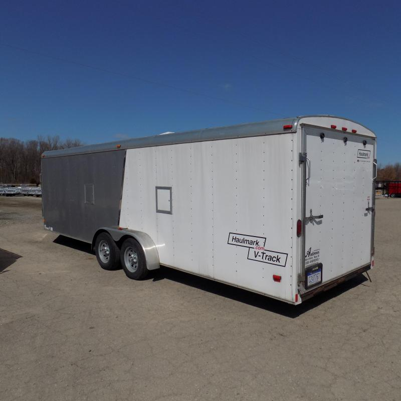 Used Haulmark 7' x 29' Inline Snowmobile Trailer For Sale - Finished Interior