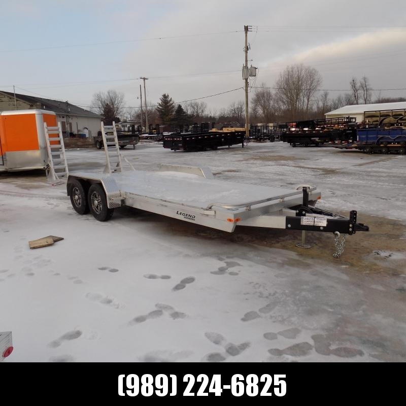 New Legend 7' x 20' Aluminum Equipment Trailer For Sale - Payment from $123/mo. W.A.C - Best Deal Guarantee