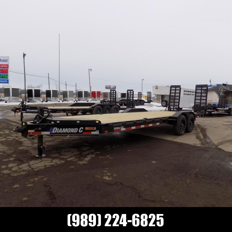 """New Diamond C Trailers 82"""" x 24' Heavy Duty Equipment Trailer - 10K Torsion Axles - $0 Down & Payments from $157/mo. W.A.C."""