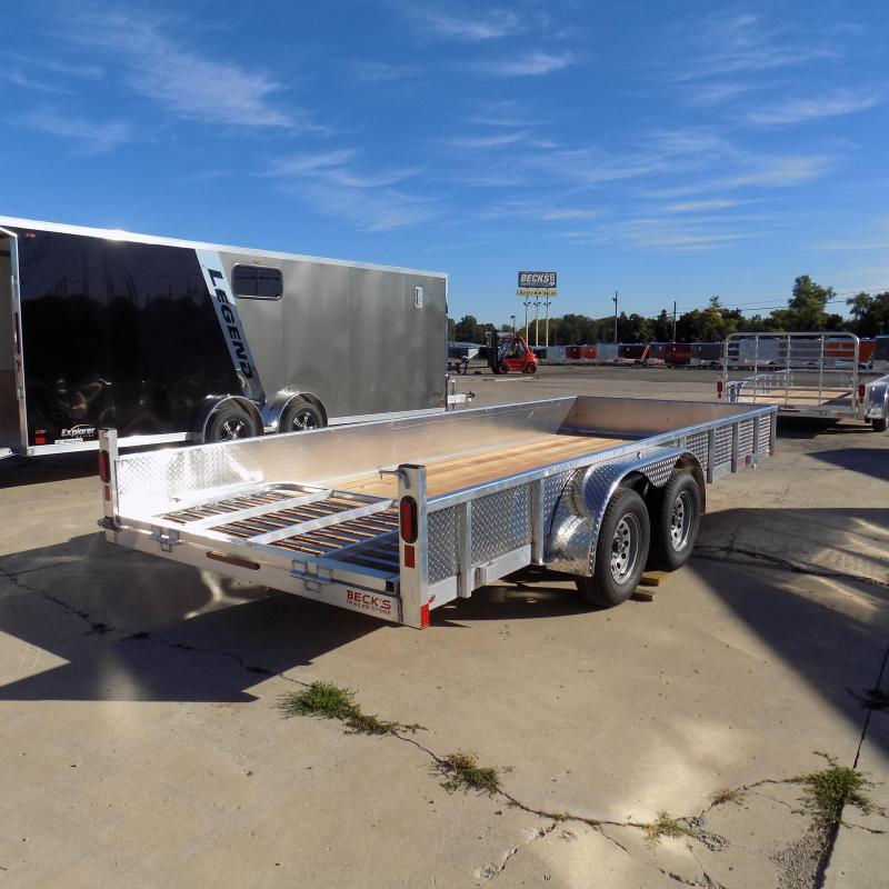 New Legend Open Deluxe 7' x 18' Aluminum Utility Trailer - $0 Down & Payments From $107/mo. W.A.C.