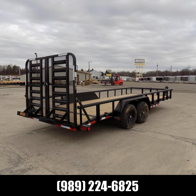 New Load Trail 7' x 20' Open Car / Equipment Trailer With 5200# Axles - $0 Down & Payments From $119/mo. W.A.C.