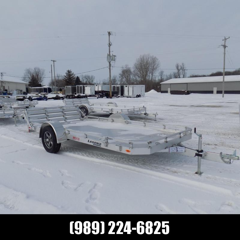 New Legend All Aluminum 7' x 14' Utility Trailer With Aluminum Deck & 3-Way Gate - $0 Down & $89/mo. W.A.C.