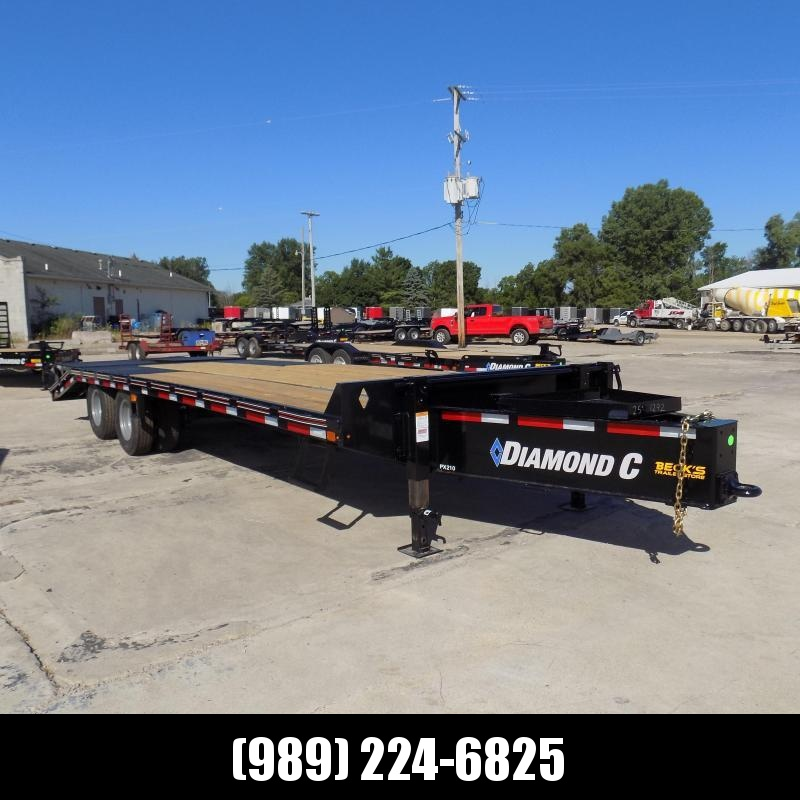 "New Diamond C 102"" x 25' Equipment Trailer W/ 25K Weight Rating - $0 Down & Payments From $167/mo. W.A.C."