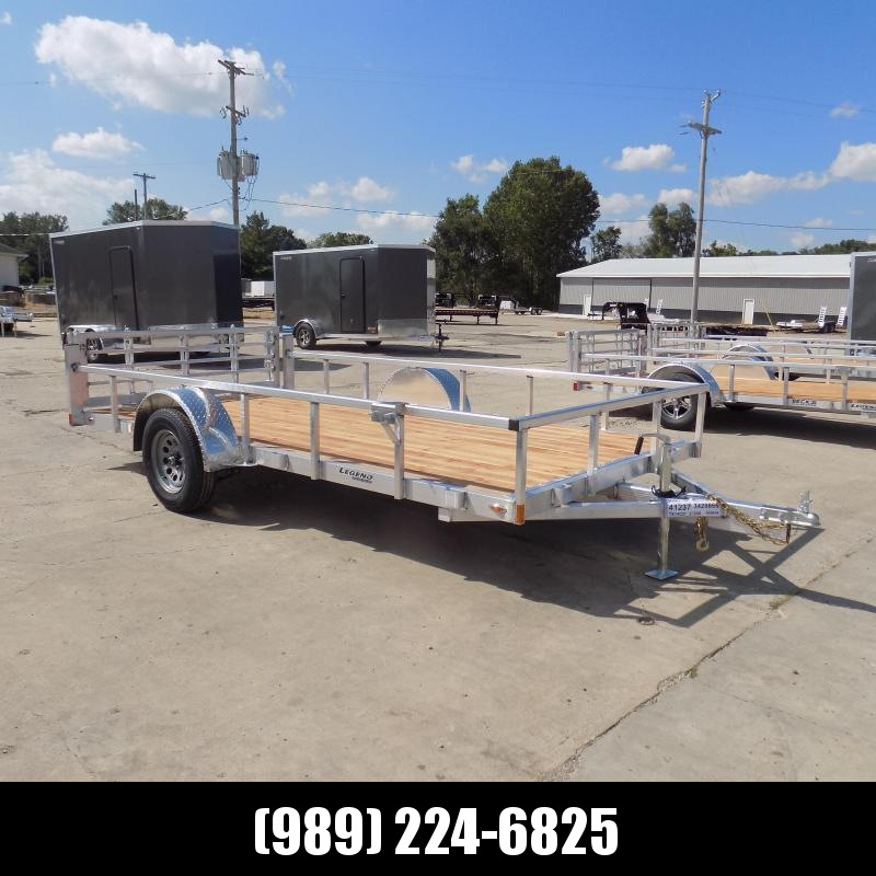 New Legend Open Deluxe 7' x 14' Aluminum Utility - $0 Down & Payments From $107/mo. W.A.C.
