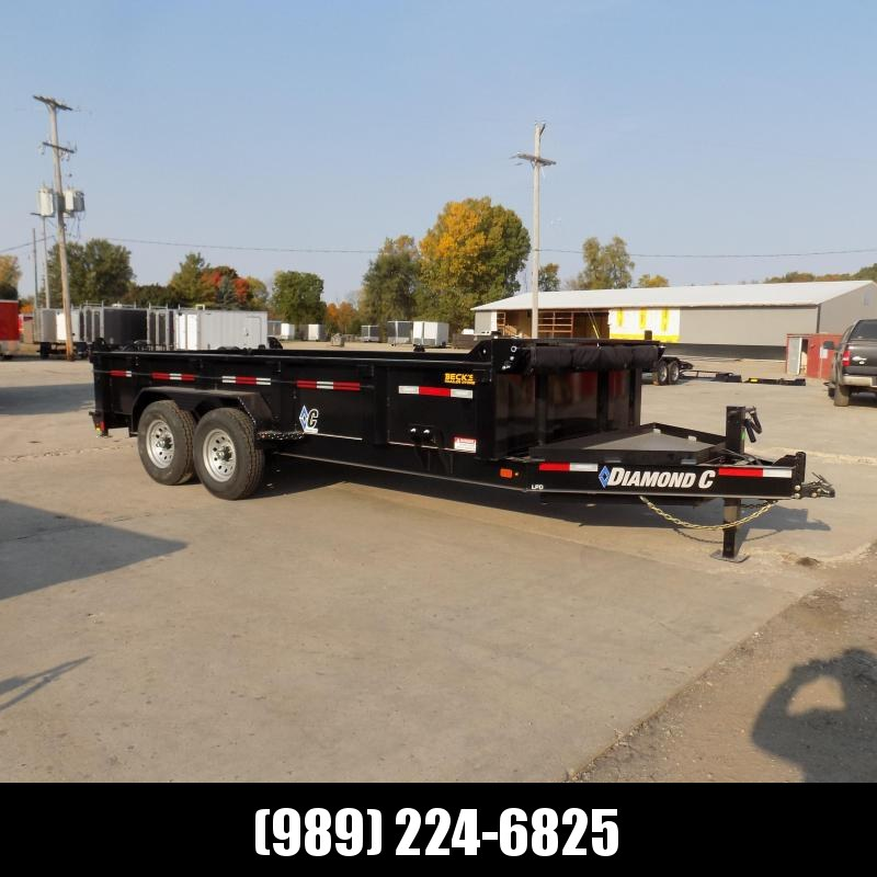 """New Diamond C 82"""" x 16' Low Profile Dump Trailer - $0 Down & payments From $145/mo. W.A.C."""