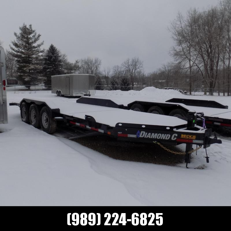 """New Diamond C HDT 82"""" x 22' Tilt Deck Equipment Trailer - Torsion Axles & 24K Weight Rating - $0 Down & Payments From $157/mo. W.A.C."""