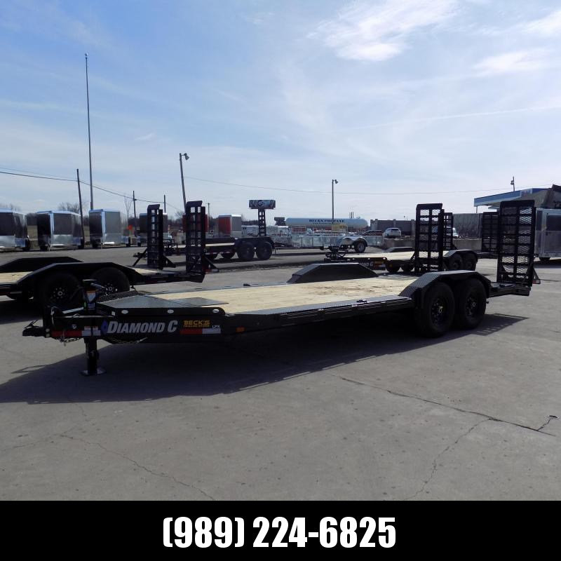 """New Diamond C Trailers 102"""" x 20' Heavy Duty Equipment Trailer With Drive-Over Fenders - $0 Down & Payments from $139/mo. W.A.C."""