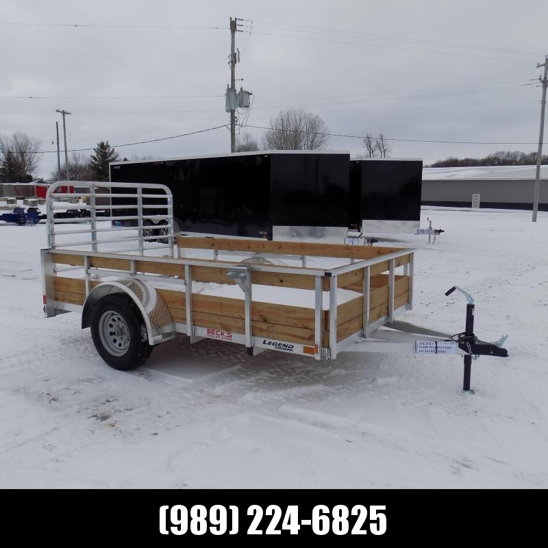 New Legend 6' x 10' Aluminum High Side Utility Trailer For Sale - $0 Down & Payments From $63/mo. W.A.C.
