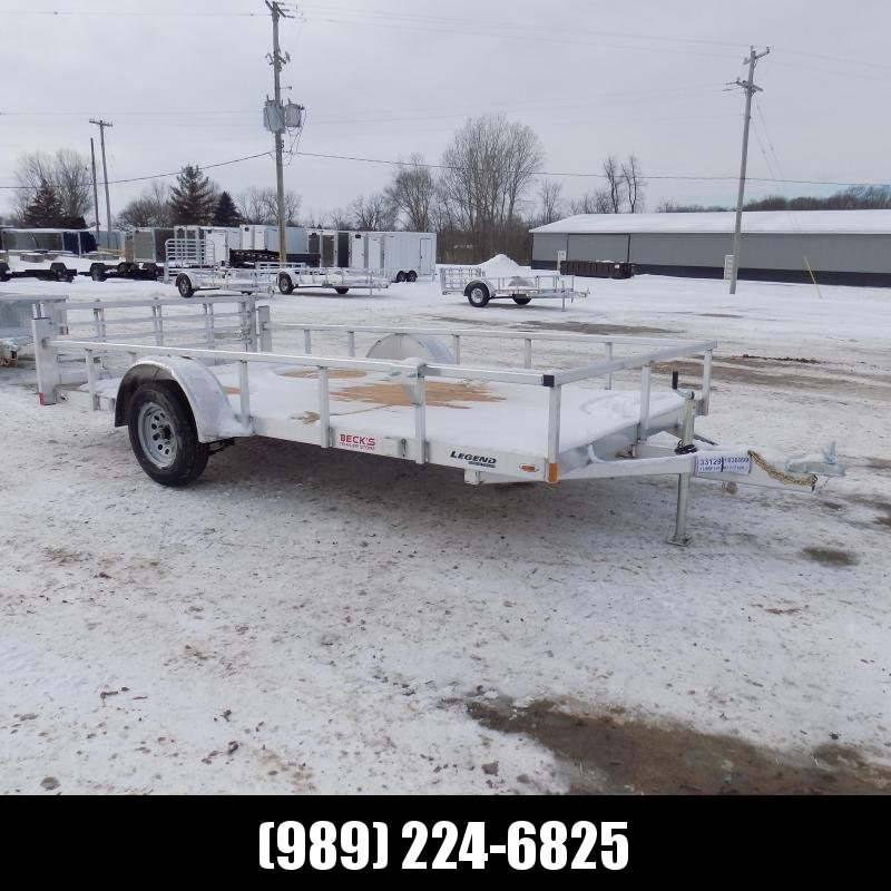 New Legend Open Deluxe 7' x 14' Aluminum Utility Trailer - $0 Down & Payments From $71/mo. W.A.C.