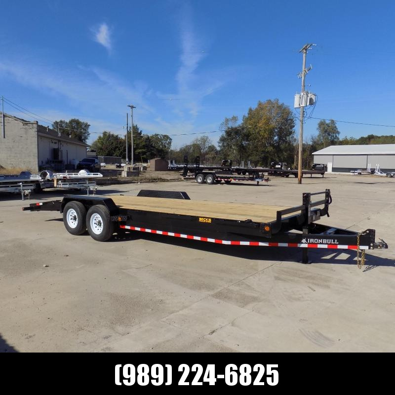 """New Iron Bull 83"""" x 24' Equipment Trailer For Sale - $0 Down & Payments From $141/Mo W.A.C"""